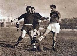 1949, Pro Patria 1 - Sampdoria 1, Pruzzo centravanti della Sampdoria..jpg